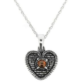 The Heart of Midlothian Silver Pendant with Garnet 9896